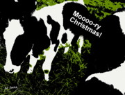 Utter Posters - Moooory Christmas Poster by Ed Smith