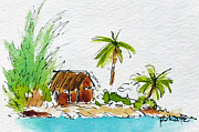 Moorea Paintings - Moorea Lagoon 1 by Pat Katz