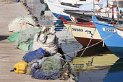 Jaffa Photos - Moored Fishing Boats by Jeremy Woodhouse