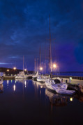 Harbor Photos - Moored Sailboats by Steve Gadomski