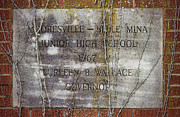 Brick Schools Photo Framed Prints - Mooresville - Belle Mina Junior High School 1967 Framed Print by Kathy Clark