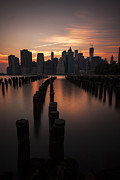 Manhattan Photo Prints - Mooring Eve Print by Andrew Paranavitana