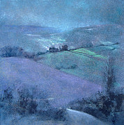 Purple Paintings - Moorland Highlights by Neil McBride