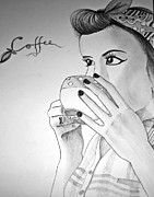 Drunk Drawings - Moorning Coffee by Nicolae Sisianu