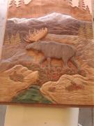 Moose Reliefs - Moose Door Panel by Stacey Mitchell