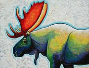 Bull Moose Posters - Moose Poster by Joe  Triano