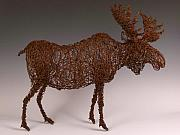 Rust Sculptures - Moose by Josh Cote
