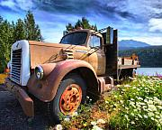 Old Truck Framed Prints - Moose Pass Limo Framed Print by David Wagner