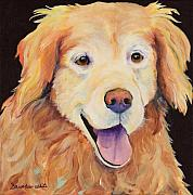 Retrievers Paintings - Moose by Pat Saunders-White