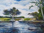 Mopani Bridge Maun Botswana Print by Enver Larney