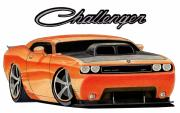 Challenger Mixed Media - Mopar by Lyle Brown