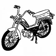 Bicycle Drawings - Moped by Karl Addison