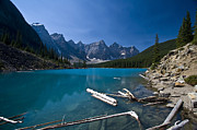 Canyon Lake Prints - Moraine Lake And The Valley Of The Ten Print by Zoltan Kenwell