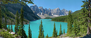 Gigapan Framed Prints - Moraine Lake Framed Print by Dave Belcher