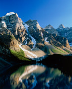 Glaciers Prints - Moraine lake Print by David Nunuk