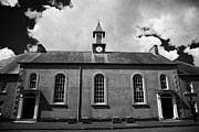 Moravian Framed Prints - Moravian Church In 18th Century Gracehill Village  Framed Print by Joe Fox