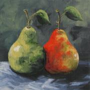 Pear Originals - More Green and Red Pears by Torrie Smiley