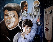 Harrison Painting Originals - More Human than Human by Al  Molina
