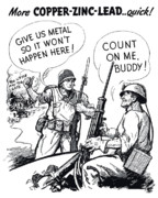 Conservation Metal Prints - More Metal WW2 Cartoon Metal Print by War Is Hell Store