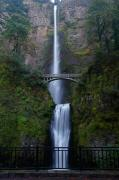 Trek Prints - More Multnomah Falls Print by Todd Kreuter