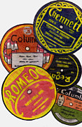 Disc Drawings - More Old Record Labels  by Mel Thompson