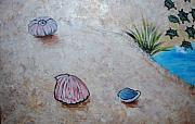 Shells Paintings - More Shells Mural Art by Nancy Mueller