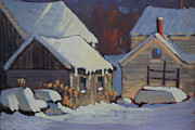 More Snow Predicted Print by Len Stomski