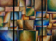Earthtone Paintings - More than Squares by Kyle Lang