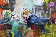 Colorful Mixed Media Prints - More to Come Print by Michel  Keck