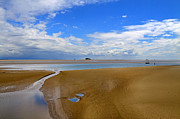 Morecambe Bay Cumbria Print by Louise Heusinkveld