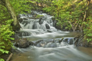 Michigan Waterfalls Prints - Morgan Falls 4584 Print by Michael Peychich