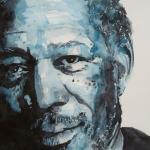 Morgan Freeman Print by Paul Lovering
