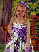 Children Portrait Print Prints - Morgan Print by Keith Burgess