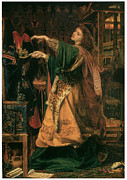 Morgan Le Fay Framed Prints - Morgan-Le-Fay Framed Print by Frederick Sandys