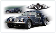 Vintage Sport Cars Photo Framed Prints - Morgan Framed Print by Tom Griffithe