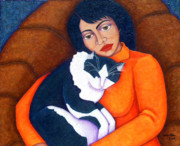 Madalena Lobao-tello Art - Morgana with woman by Madalena Lobao-Tello