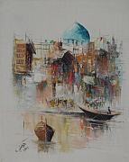 Baghdad Painting Originals - Morgans Contrasts by Iraqi Signature