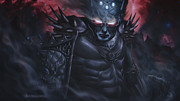 Middle Earth Posters - Morgoth  the black foe Poster by Rick Ritchie