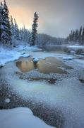 Morley Prints - Morley River In Winter Near Teslin Print by Robert Postma