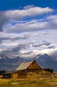 Grand Teton Posters - Mormon Barn Morning Poster by Joseph Rossbach