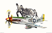 Warbird Mixed Media - Mormon Mustang - Pioneering History by Trenton Hill