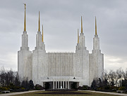 Cities Art - Mormon Temple - Kensington Maryland by Brendan Reals