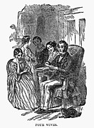 1870 Photos - MORMON WITH WIVES, 1870. /nWood engraving, American, 1870 by Granger