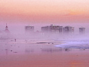 Haze Prints - Morning at the Beach Print by Stefan Kuhn