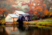 Grist Mill Prints - Morning at the Mill Print by Darren Fisher