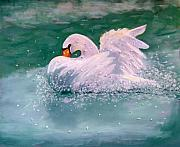 Linda Hiller Prints - Morning Bath Print by Linda Hiller