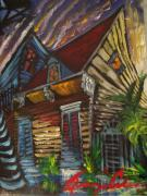 New Orleans Scenes Paintings - Morning Before The Storm by Amzie Adams