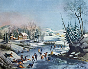Morning By Currier And Ives Print by Susan Leggett
