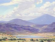 Abiquiu Paintings - Morning by the Lake by Stede Barber
