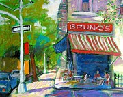 Figures Painting Originals - Morning Coffee by Jim Flanagan